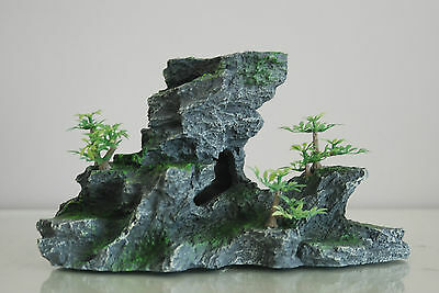 Aquarium Large Detailed Rock & Plant Decoration 15x8x13 cms For All Aquariums 5