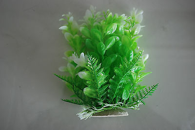 Aquarium Tropical Plastic Plants x 2 Approx 16cm High Suitable for All Aquariums 5
