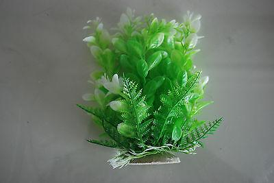 Aquarium Tropical Plastic Plants x 2 Approx 16cm High Suitable for All Aquariums 5