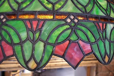 Turn of the Century Stained Glass Canopy for Back Bar R. Williamson Mfg. Chicago 6