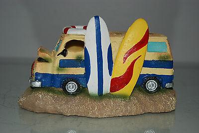 Aquarium Old Surfers Camper Van Decoration 19x8x11 cms Suitable for Aquariums 3