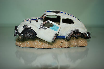 Aquarium VW Herbie car Decoration & Bubble Exhaust Size 15 x 10 x 7 cms 2