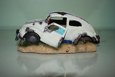 Aquarium VW Herbie car Decoration & Bubble Exhaust Size 15 x 10 x 7 cms 2