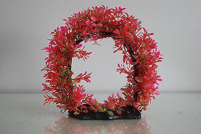 Aquarium Realistic Large Red Ring Plant 22 x 8 x 21 cms For All Aquariums 2