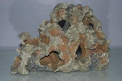 Aquarium Detailed Rustic Old Medium Rock with Holes Decoration 25 x 7 x 16 cms 3