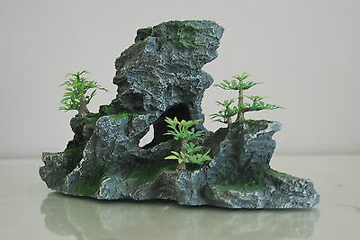Aquarium Large Detailed Rock & Plant Decoration 15x8x13 cms For All Aquariums 2