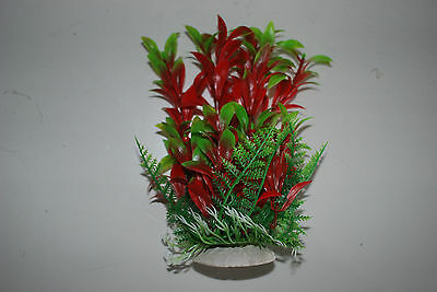 Aquarium Tropical Plastic Plants x 2 Approx 16cm High Suitable for All Aquariums 4