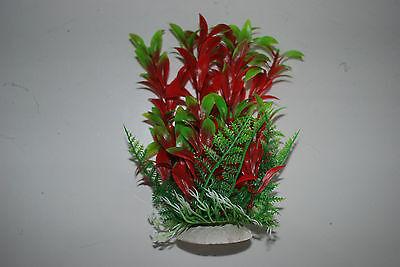 Aquarium Tropical Plastic Plants x 2 Approx 16cm High Suitable for All Aquariums 4