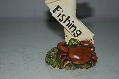 Aquarium Crab No Fishing Sign Size 7 x 5 x 13 cms Suitable For All Aquariums 5