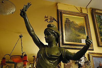 Original Louis Gasne Paris Marianne France Gußeisen 19.Jh. Skulptur Höhe 188 cm 6