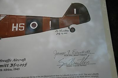 FOUR! Famous Bf-109's Signed by Pilots, Aviation Art 6