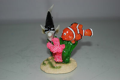 Aquarium Detailed Clown Fish & Coral Base 9 x 8 x 9 cms For All Aquariums 8