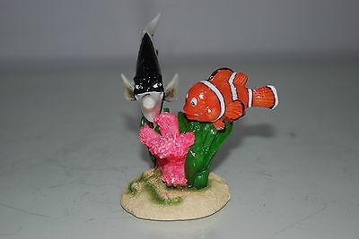 Aquarium Detailed Clown Fish & Coral Base 9 x 8 x 9 cms For All Aquariums 8