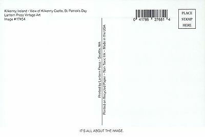 Kilkenny Ireland, View of Castle, St. Patrick's Day, Cross etc - Modern Postcard 2