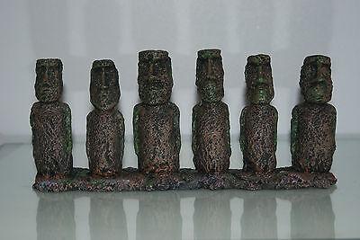 Aquarium & Vivarium Large Line Of Easter Island Heads Decoration 31 x 7 x 14cms 6