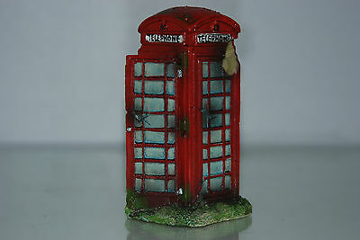 Aquarium Small Old London Telephone Box 8 x 7 x14 cms Suitable For All Aquariums 3