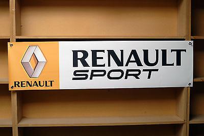Renault Sport Banner Garage Workshop PVC Sign Trackside Display Clio Cup V2