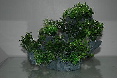Aquarium Large Detailed Rock with Various Plants Decoration 29 x 10 x 25 cms 4