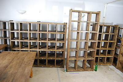 Pigeon holes industrial rustic bookcase x3 reclaimed wood gplanera 2