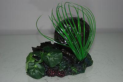 Aquarium Broken Sunken Pots Sword on Rock Base with Plants 15 x 11 x 12 cms 4