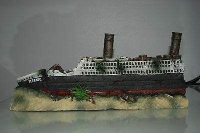 Stunning Aquarium Detailed Large Titanic 59 x 9.5 x 15 cms For All Aquariums 3 • EUR 54,70