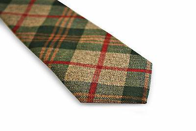 1ef8a6018e53 ... Frederick Thomas mens wool tweed tie in green, brown & red check FT3144  2