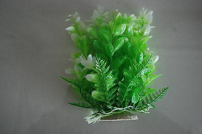 Aquarium Tropical Plastic Plants x 2 Approx 16cm High Suitable for All Aquariums 3