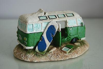 Aquarium VW Camper Van Bright Green Decoration 15.5 x 9.5 x 8 cms 3