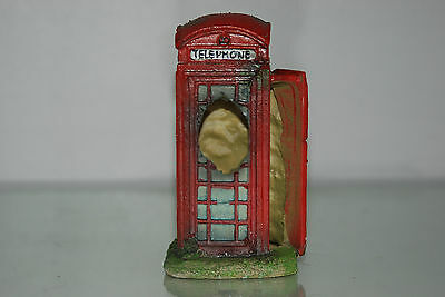 Aquarium Small Old London Telephone Box 8 x 7 x14 cms Suitable For All Aquariums 5