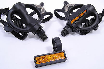 NEW SUNLITE VP 335T Fuji Road Bike Pedals Toe Cages Clips Bicycle 9//16
