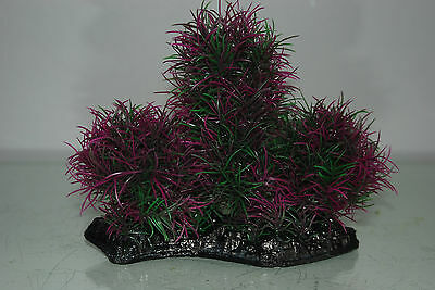 Aquarium Large Purple & Green Bush Plant 17 x 7 x 16 cms For All Aquariums 4