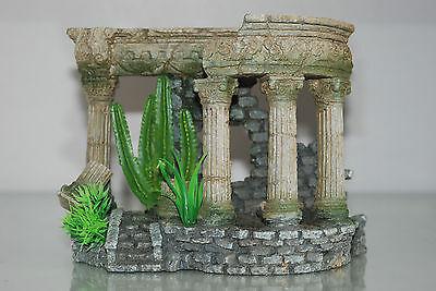 Aquarium Medium Roman Arch With Steps & Plants 18 x 10.5 x 14 cms 3