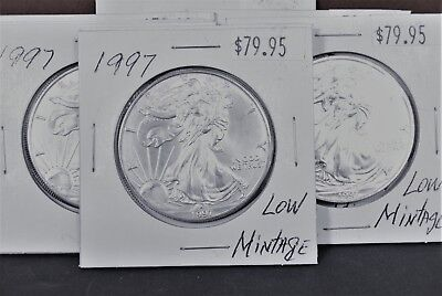 1997 Silver American Eagle BU Coin 1 oz $1 Dollar US Mint Uncirculated Brilliant 10