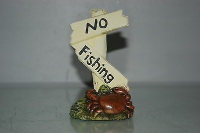 Aquarium Crab No Fishing Sign Size 7 x 5 x 13 cms Suitable For All Aquariums 6