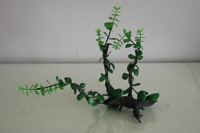 Aquarium Realistic Plastic Plant Attached to Wooden Log 27 x 9 x 23 cms 2