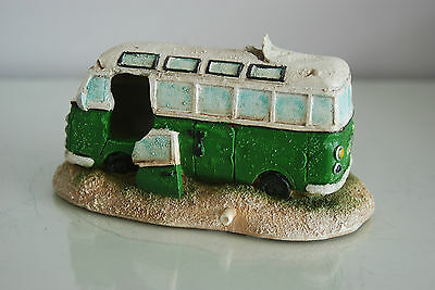 Aquarium VW Camper Van Bright Green Decoration 15.5 x 9.5 x 8 cms 2