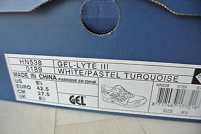 2007 ASICS Gel Lyte III 3 42.5 + NEU Saga DS GT V 3 500 PAAR