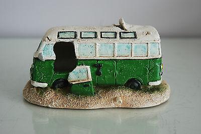 Aquarium VW Camper Van Bright Green Decoration 15.5 x 9.5 x 8 cms 8