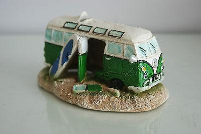 Aquarium VW Camper Van Bright Green Decoration 15.5 x 9.5 x 8 cms 5