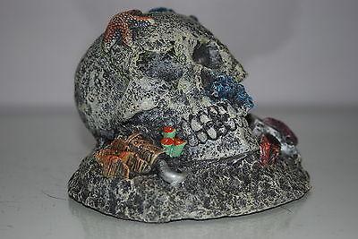 Aquarium Detailed Large Pirate Skull & Padlock and Axe 16.5 x 16 x 11.5 cms 4