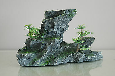 Aquarium Large Detailed Rock & Plant Decoration 15x8x13 cms For All Aquariums 4
