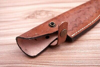 Custom Hand Made Pure Leather Sheath For Fixed Blade Knife - Q 547 3