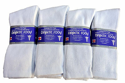 3 Pairs Diabetic CREW circulatory Socks Health Men's & Women's  Cotton ALL SIZE 3