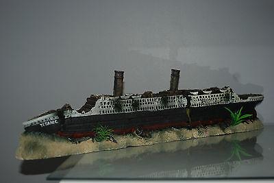 Stunning Aquarium Detailed Large Titanic 59 x 9.5 x 15 cms For All Aquariums 6 • EUR 54,70