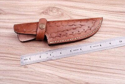 Custom Hand Made Pure Leather Sheath For Fixed Blade Knife - Q 547 4