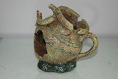 Aquarium Broken Vase Jug Pot Decoration 15x11x13 cms Suitable For All Aquariums 2