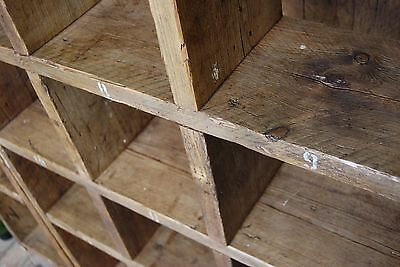 Pigeon holes BOOKCASE 1 col + 3 col industrial rustic salvage wood gplanera 7