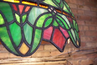 Turn of the Century Stained Glass Canopy for Back Bar R. Williamson Mfg. Chicago 3