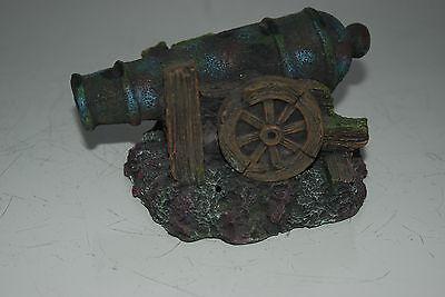 Aquarium Old Canon Detailed Rustic 15 x 12 x 9 cms Suitable for all Aquariums 2