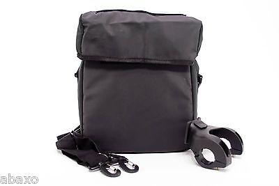 Waterproof Bicycle Handlebar Bag W Map Holder Shoulder Strap Black